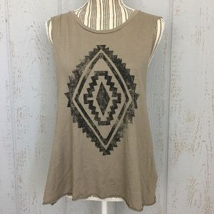 Forever 21 Boho Chevron Pattern Sleeveless Tee